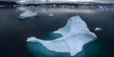 Ice Floe Floating in Scoresby Sound, Greenland-Raul Touzon-Photographic Print