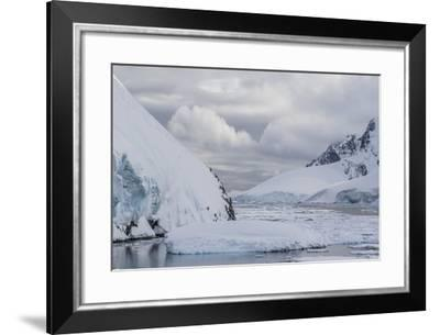 Ice Floes Choke the Waters of the Lemaire Channel, Antarctica, Polar Regions-Michael Nolan-Framed Photographic Print