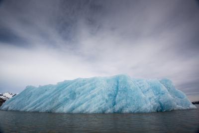 Ice from the Monacobreen Glacier Protrudes into the Sea-Michael Melford-Photographic Print