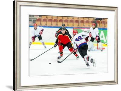 Ice Hockey Game-Robert Nyholm-Framed Photographic Print
