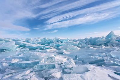 Ice Hummocks at Lake Baikal-katvic-Photographic Print