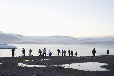 Ice, Icebergs, Glacier Lagoon, Jškulsarlon, South Iceland-Julia Wellner-Photographic Print
