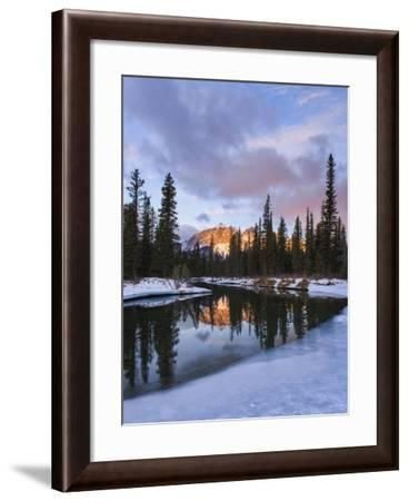 Ice on the Bend-Michael Blanchette Photography-Framed Giclee Print