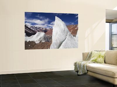 Ice Pinnacles at Terminus of Glaciar Italia, Rio Colorado Headwaters-Grant Dixon-Wall Mural