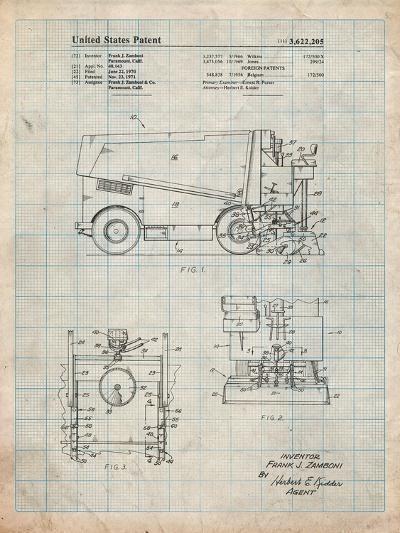 Ice Resurfacing Patent-Cole Borders-Art Print