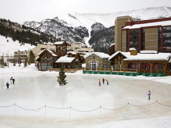 Ice Rink at Copper Mountain Ski Resort, Rocky Mountains, Colorado, USA-Richard Cummins-Photographic Print