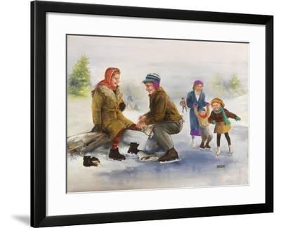 Ice Skaters-Dianne Dengel-Framed Giclee Print