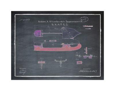 Ice Skates, 1867-Chalkboard-Bill Cannon-Giclee Print