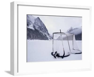 Ice Skating Equipment, Lake Louise, Alberta--Framed Photographic Print