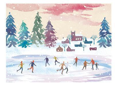 Ice-Skating-Advocate Art-Art Print