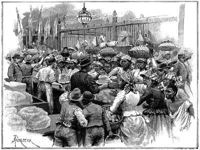 Ice Stall in the Market, Georgetown, Demerara, Guyana (British Guian), 1888-Amedee Forestier-Giclee Print