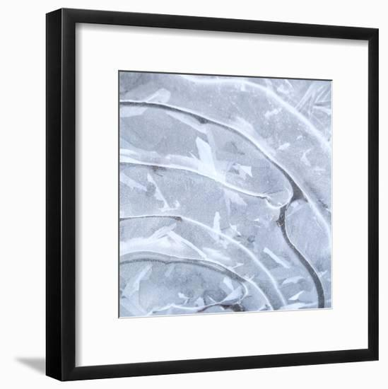 Ice Swirl 1-Karen Ussery-Framed Premium Giclee Print