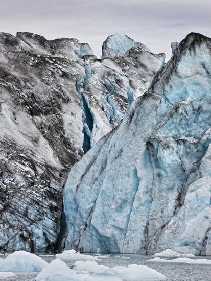 Ice Walls- Jokulsarlon Glacial Lagoon, Breidarmerkurjokull Glacier, Vatnajokull Ice Cap, Iceland-Arctic-Images-Photographic Print
