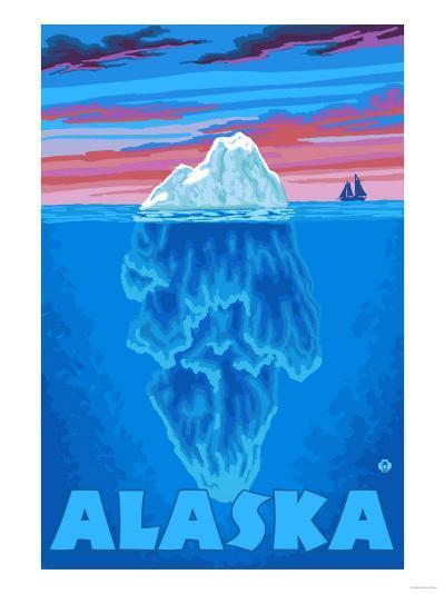Iceberg, Alaska-Lantern Press-Art Print