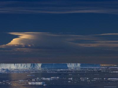 Iceberg and Pack Ice, Weddell Sea, Antarctic Peninsula, Antarctica, Polar Regions-Thorsten Milse-Photographic Print