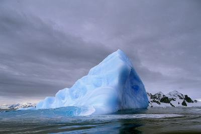Iceberg at Entrance to Lemaire Channel in Antarctica--Photographic Print