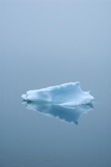 Iceberg Floats on Erik's Fjord in Southern Greenland-David Noyes-Photographic Print