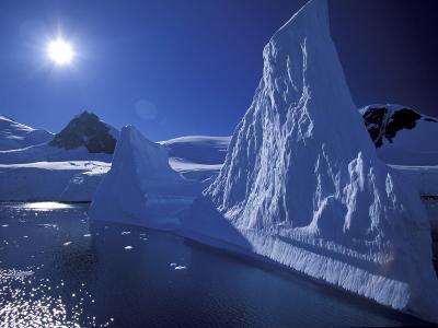 Iceberg Grounded near Shore in Paradise Bay, Antarctic Peninsula, Alaska, USA-Hugh Rose-Photographic Print