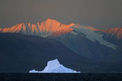 Iceberg in Front of Mountains-DLILLC-Photographic Print