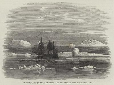 Iceberg Passed by the Anglesey on Her Passage from Melbourne Home--Giclee Print