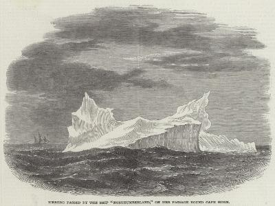 Iceberg Passed by the Ship Northumberland, on Her Passage Round Cape Horn--Giclee Print