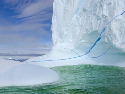 Iceberg with Long Cracks Floating Near Cape Evensen-John Eastcott & Yva Momatiuk-Photographic Print