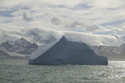 Iceberg with Mountain Range in Background-DLILLC-Photographic Print