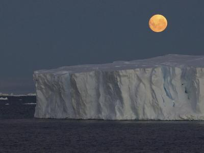 Iceberg with Rising Moon in the Weddell Sea-Bob Smith-Photographic Print