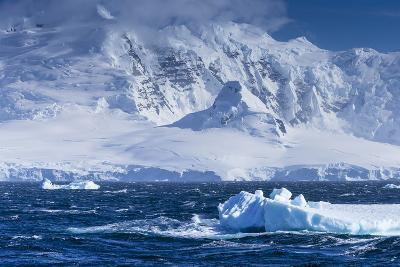 Icebergs and Mountains Near Cuverville Island, Antarctica-Ralph Lee Hopkins-Photographic Print