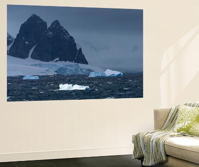 Icebergs and Mountains Near Cuverville Island, Antarctica-Ralph Lee Hopkins-Wall Mural