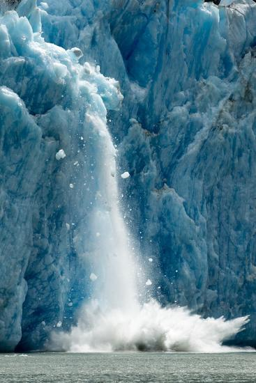 Icebergs Calving from Glacier, Alaska-Paul Souders-Photographic Print
