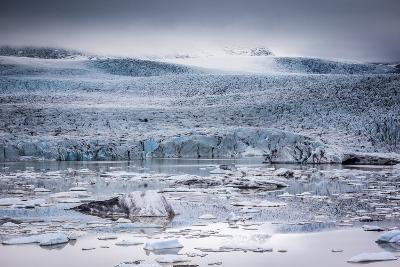 Icebergs Floating in the Glacier Lagoon Beneath Breidamerkurjokull Glacier, Jokulsarlon-Andrew Sproule-Photographic Print
