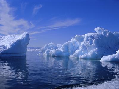 Icebergs from the Icefjord, Ilulissat, Disko Bay, Greenland, Polar Regions-Robert Harding-Photographic Print