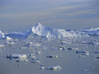 Icebergs from the Icefjord, Ilulissat, Disko Bay, Greenland, Polar Regions-Robert Harding-Photographic Print
