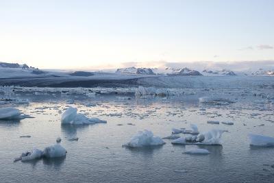 Icebergs, Glacier Lagoon Jškulsarlon, South Iceland-Julia Wellner-Photographic Print