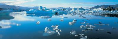 Icebergs in a Lake, Jokulsarlon Lagoon, Iceland--Photographic Print