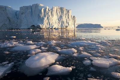 Icebergs in Disko Bay in Greenland-Paul Souders-Photographic Print