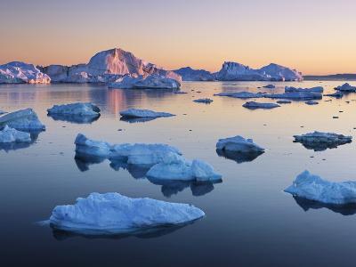 Icebergs in Disko Bay-Frank Krahmer-Photographic Print