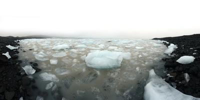 Icebergs in Fjallsarlon Ice Lagoon in Iceland-Raul Touzon-Photographic Print