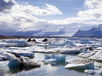 Icebergs in Glacial Lagoon at Jokulsarlon, Iceland, Polar Regions-Lee Frost-Photographic Print
