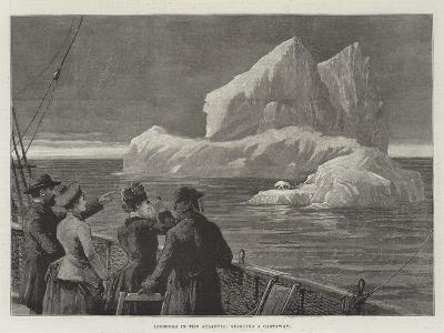 Icebergs in the Atlantic, Sighting a Castaway--Giclee Print