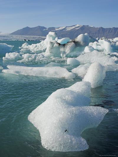 Icebergs in the Glacial Melt Water Lagoon, Jokulsarlon Breidamerkurjokull, South Area, Iceland-Neale Clarke-Photographic Print