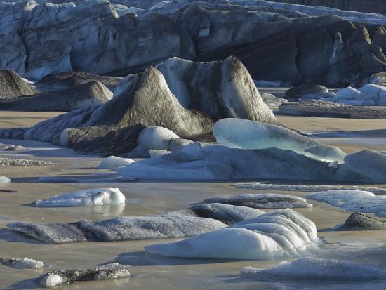 Icebergs in the Glacier Lagoon Sv'nafellsjškull, East Iceland, Iceland-Rainer Mirau-Photographic Print