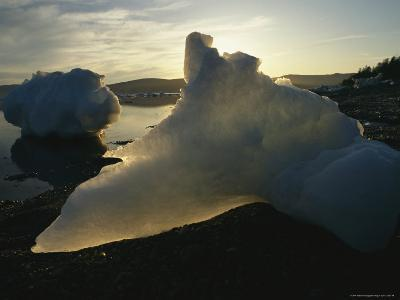 Icebergs Near Shore on Kamchatkas Coast-Klaus Nigge-Photographic Print