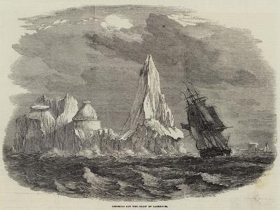 Icebergs Off the Coast of Labrador--Giclee Print