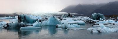 Icebergs on Atlantic Ocean Off Iceland-Raul Touzon-Photographic Print