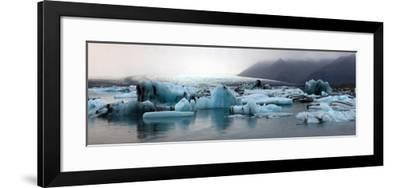 Icebergs on Atlantic Ocean Off Iceland-Raul Touzon-Framed Photographic Print