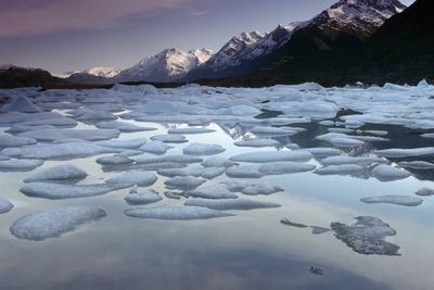 Icebergs on Lake George Chugach Mtns Sc Ak Summer-Design Pics Inc-Photographic Print