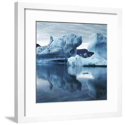 Icebergs Reflected in Water--Framed Photographic Print