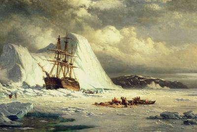 Icebound Ship, C.1880-William Bradford-Giclee Print